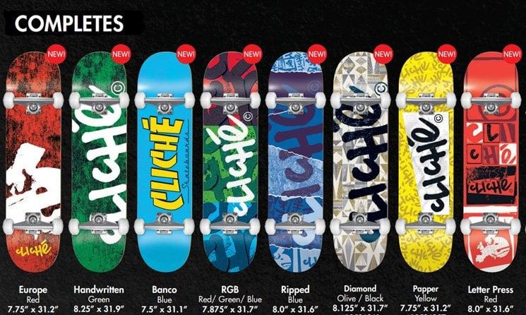 Cliche complete skateboards shop