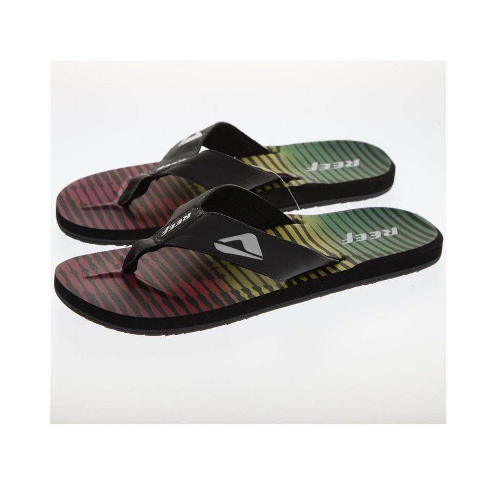 recoger ceaf1 598be Reef Sandals: HT Prints Rasta Girl BK, 8 USA / 40 EUR