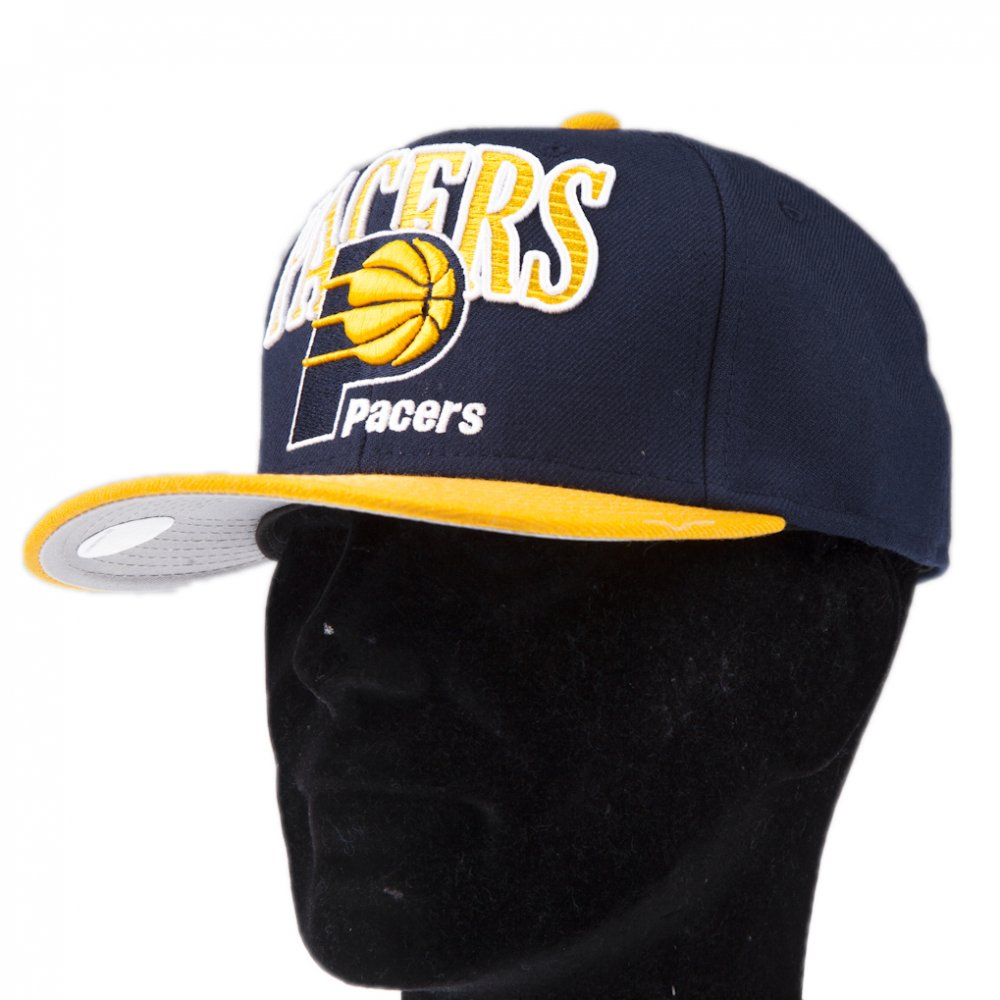 a8fe500c3 Mitchell & Ness Cap: Indianapolis Pacers NV/YL   Buy Online   Fillow ...
