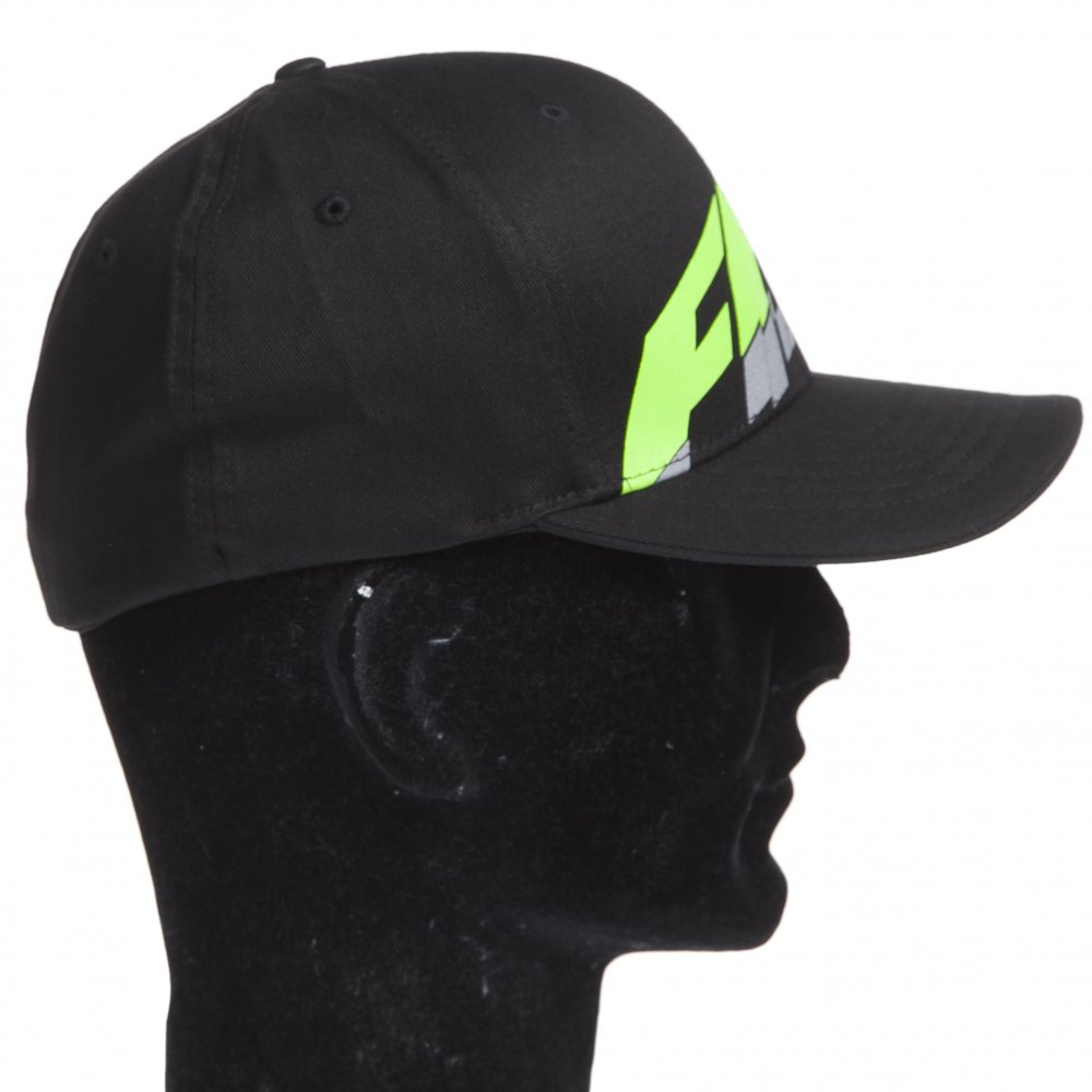 30a592229f7 ... Fox Racing Cap  Superfaster Flex Fit Hat BK ...
