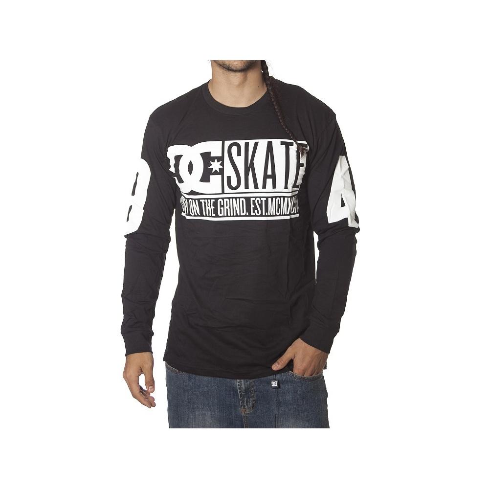 bb5a6f87679842 DC Shoes T-Shirt  Glass Slap LS BK