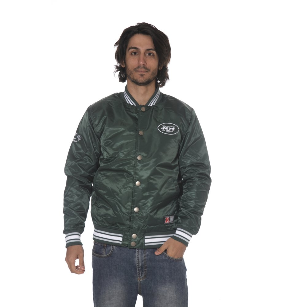 classic fit a5dc6 eab01 Majestic Jacket: Glascoe Satin Jacket New York Jets GN | Buy ...