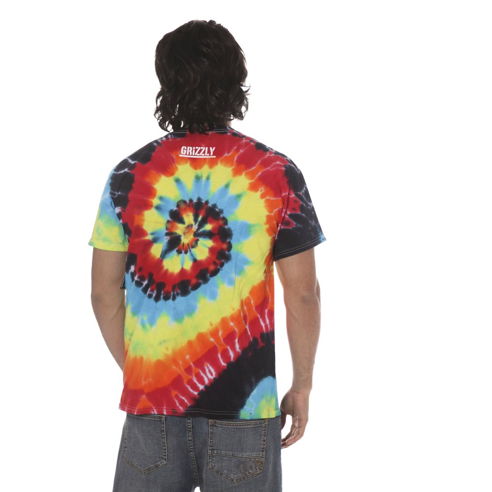 746261b5 Grizzly T-shirt: Colored Bear Stamp Tee Tie Dye MC | Buy Online ...