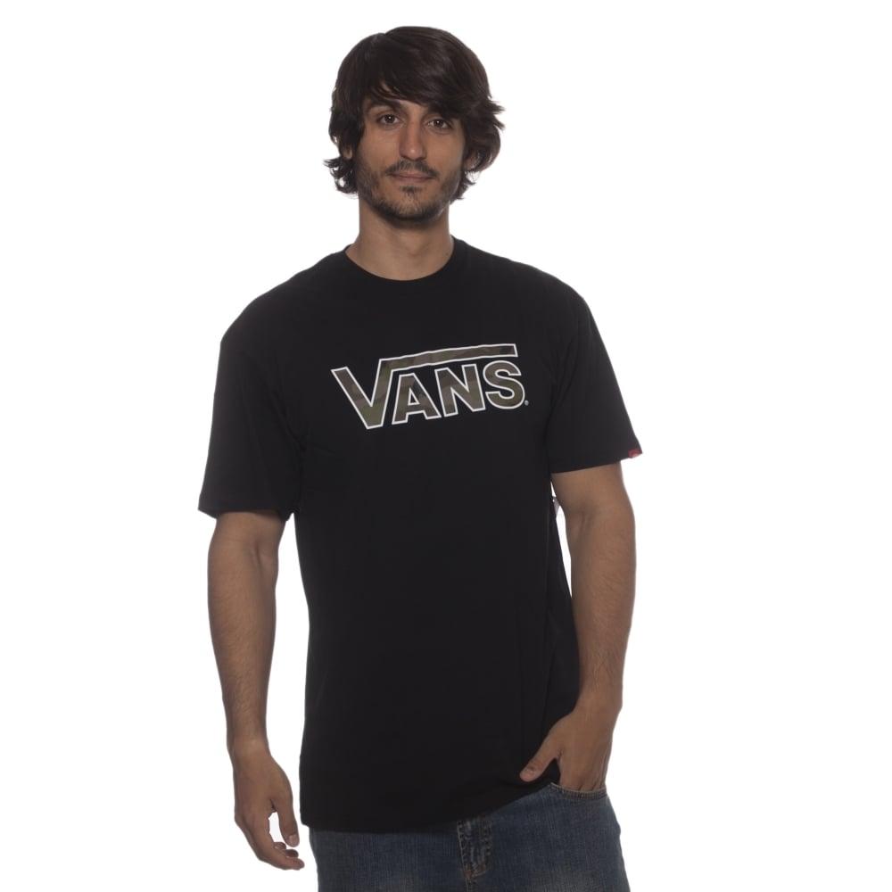 ca1e4c9100 ... Vans T-Shirt  CLASSIC LOGO Black Camo BK ...