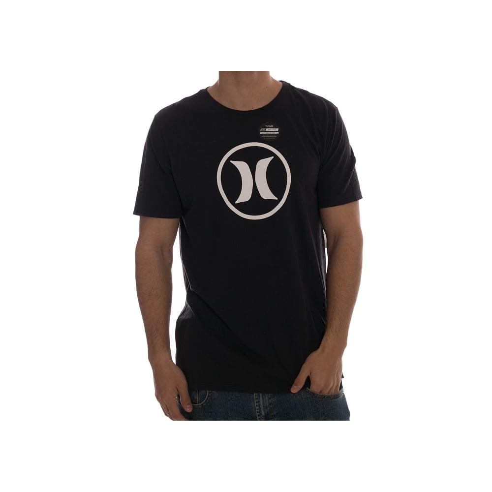 Hurley T-Shirt  Circle Icon BK  fa7586e14e4