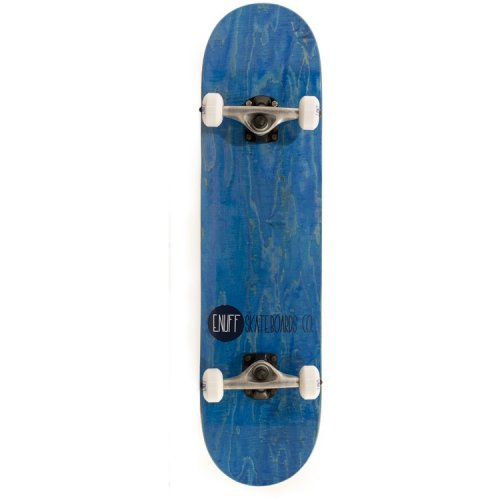 Enuff Complete Skate: Logo Stain Blue 7.75