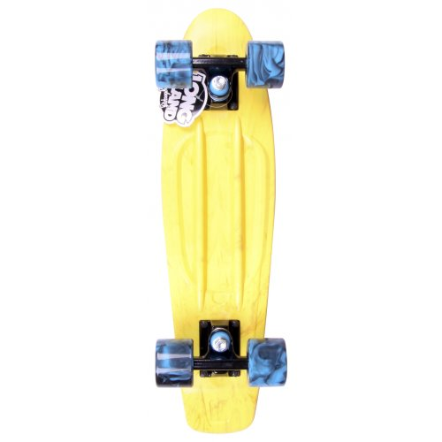 Long Island Skateboard Cruiser: Buddie 15B LI All Over Ice Yellow 22.5""
