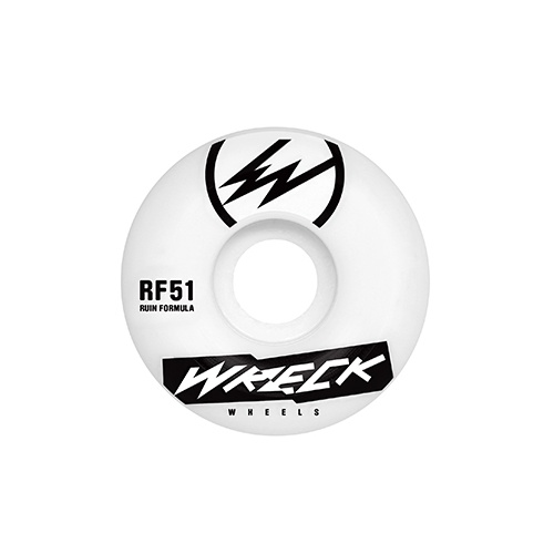 Wreck Wheels: Square Cut White (51 mm)
