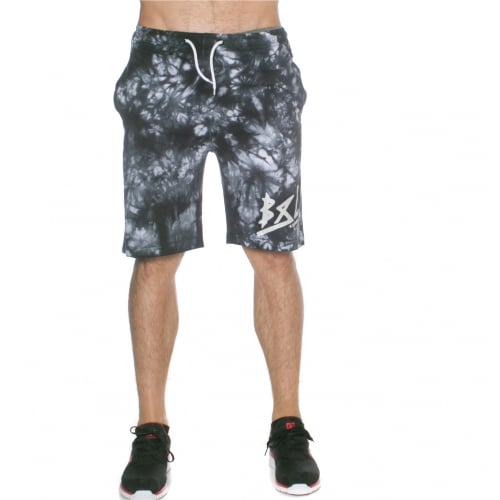 Grimey Short: Godly Beigns Tie Dye Shorts BK