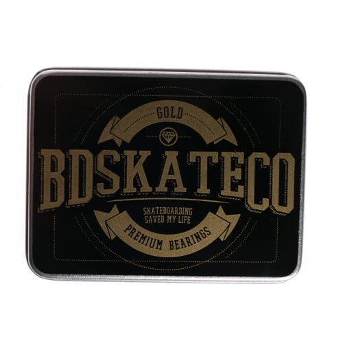 BDSkateCO Bearings: Metal Box Gold