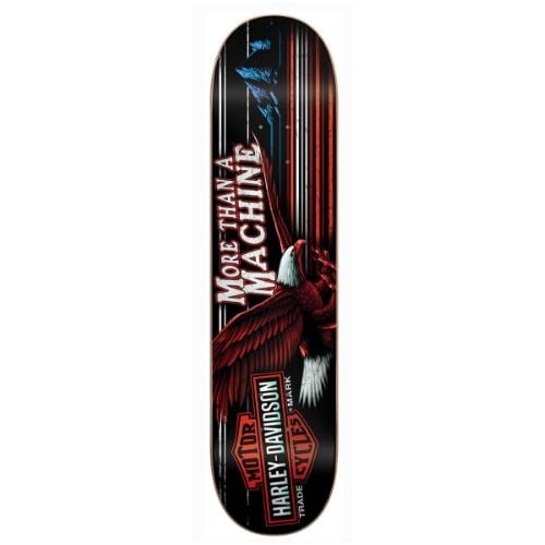Darkstar Deck: Harley Davidson ® Highway Red White Blue HYB 8.0