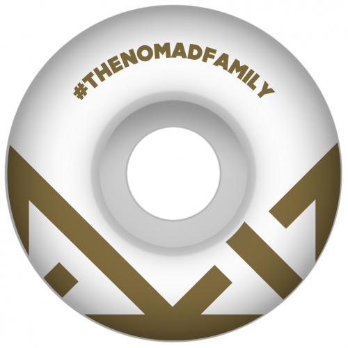 Nomad Wheels: Crown Logo Gold (53 mm)