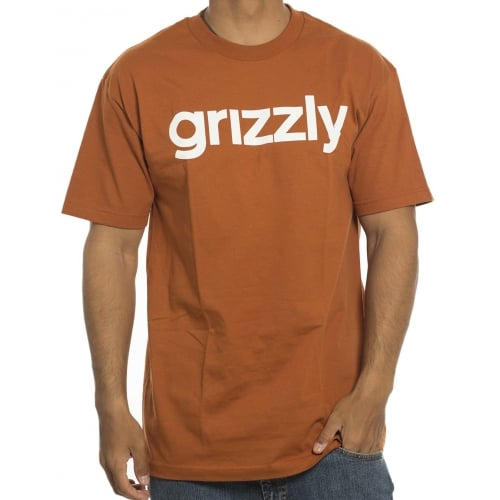 Grizzly T-Shirt: Lower Case Texas Orange BR