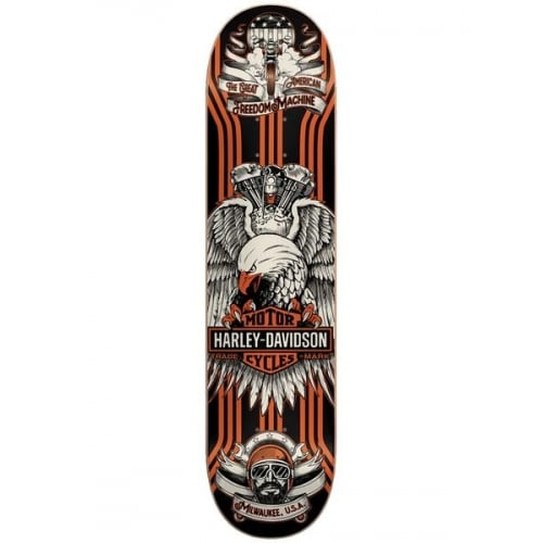 Darkstar Deck: Eagle Harley-Davidson® Orange RHM 8.125