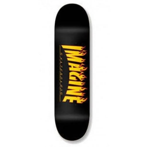 Imagine Skateboards Deck: Flames 8.1