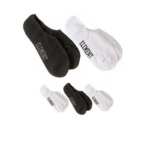 Element Socks: Low-Rise Socks 5 Pack WH/BK