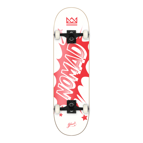 Nomad Commplete Skate: Banger Red 7.75