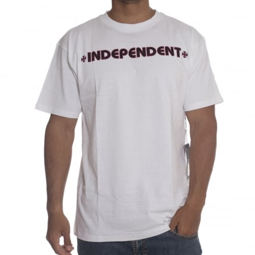Independent T-Shirt: Bar Cross WH