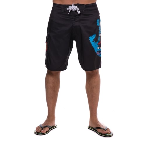 Santa Cruz Boardshort: Boardshort Screaming Hand BK