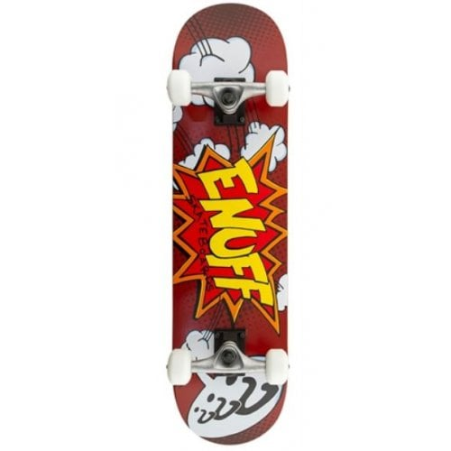 Enuff Complete Skate: Pow Red 7.75