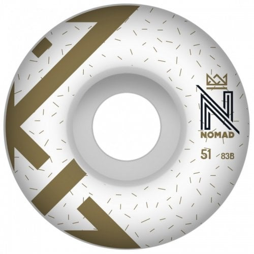 Nomad Wheels: Logo White (51 mm)