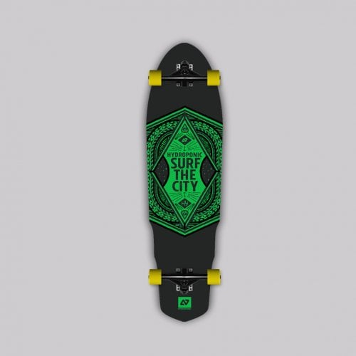 Complete Longboard Hydroponic: SURF THE CITY 2.0 35X9.6 GN