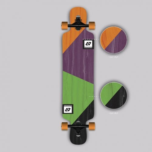Complete Longboard Hydroponic: DT 3.0 CUT PLY 39X8,75