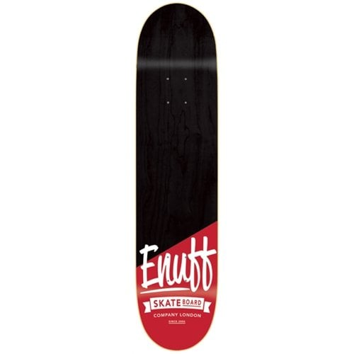 Enuff Deck: Dip Stained Black Red 8.25