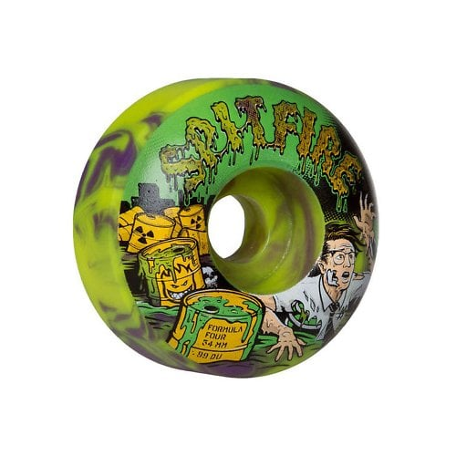 Spitfire Wheels: F4 99D Toxic Apocalypse PP/GN (56 mm)