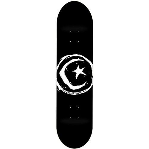 Foundation Skateboards Deck: FS Star & Moon Black 8.0