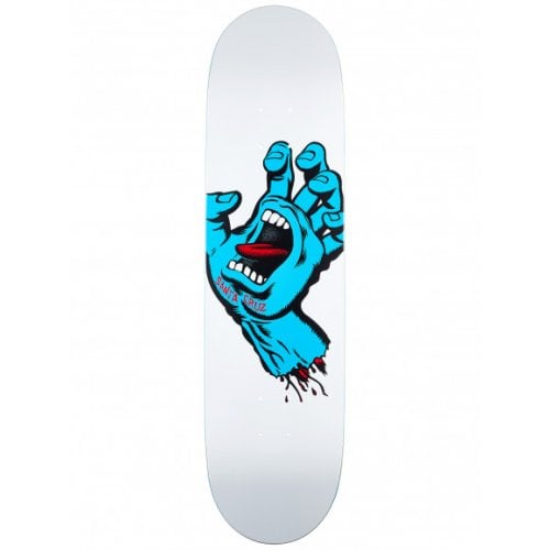Santa Cruz Skateboards Deck: Screaming Hand Taper Tip 8.5
