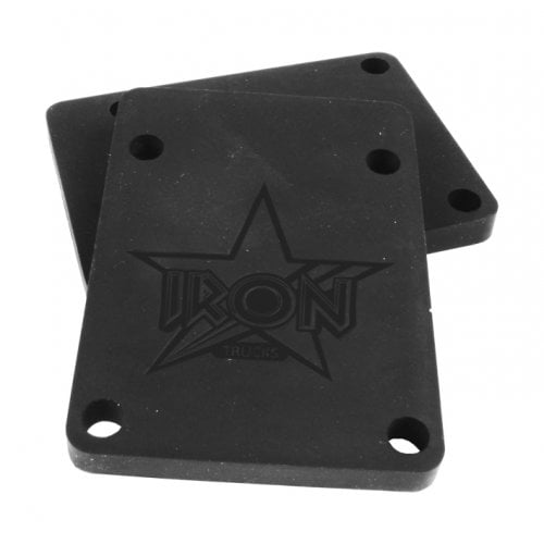 Iron Riser Pads: Riser Pads Black 6mm