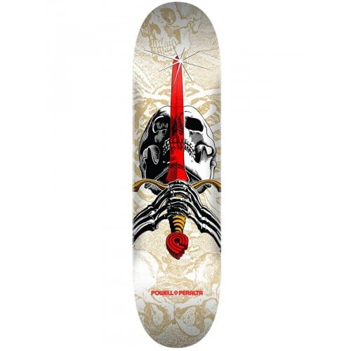 Powell Peralta Deck: Skull & Sword One Off White 7.5