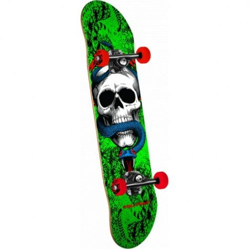 Powell Peralta Complete Skate: Skull and Snake One Off Green 7.625