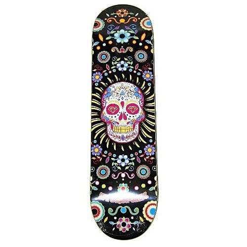Hydroponic Deck: Mexican Skull Black 8.25