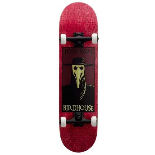 Birdhouse Complete Skate: Stage 3 Plague Doctor Red 8.0