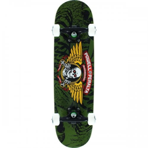 Powell Complete Skate: Winged Ripper Olive 7.5