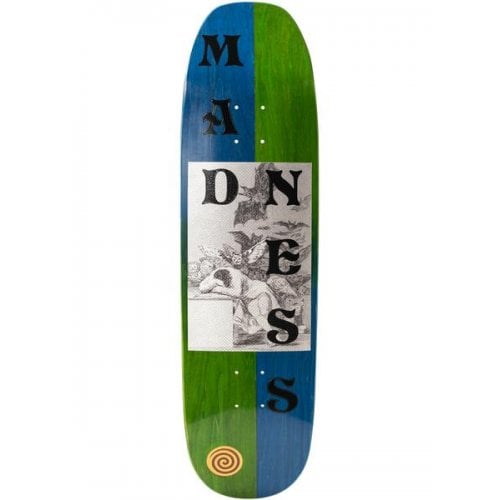 Madness Skateboarding Deck: Dreams Green/Blue R7 8.75
