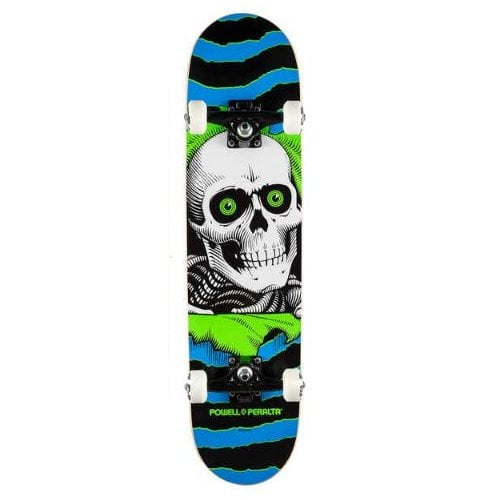 Powell Peralta Complete Skate: Ripper One Off Blue Green 7.75