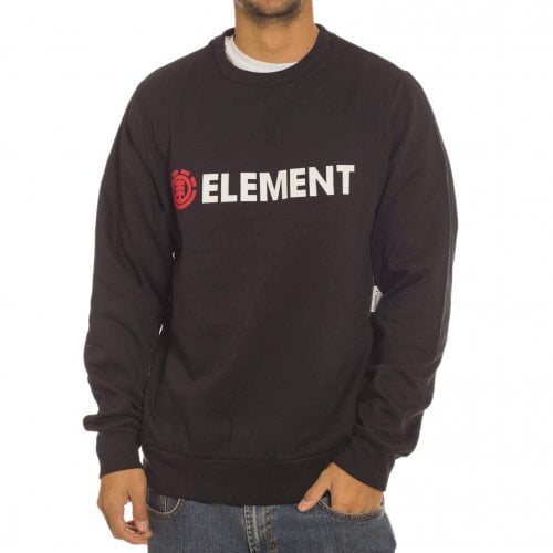 Element Sweatshirt: Blazin Crew Flint BK