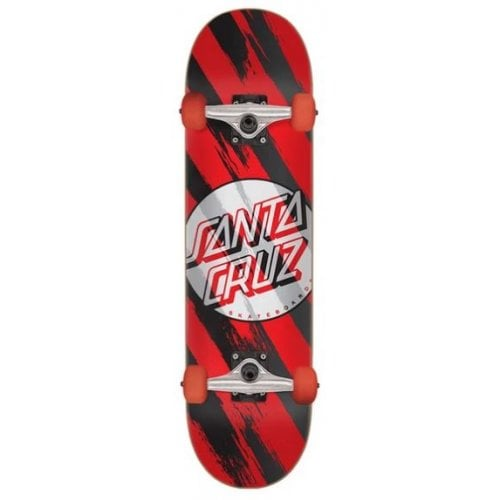 Santa Cruz Complete Skate: Brush Dot 7.5