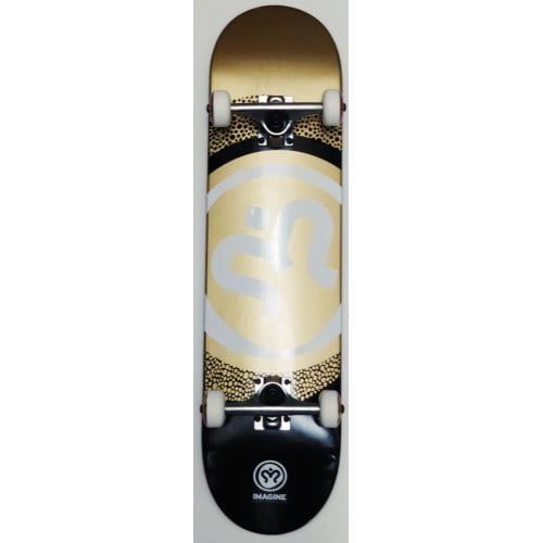 Imagine Complete Skate: Round White Gold Black 8.0