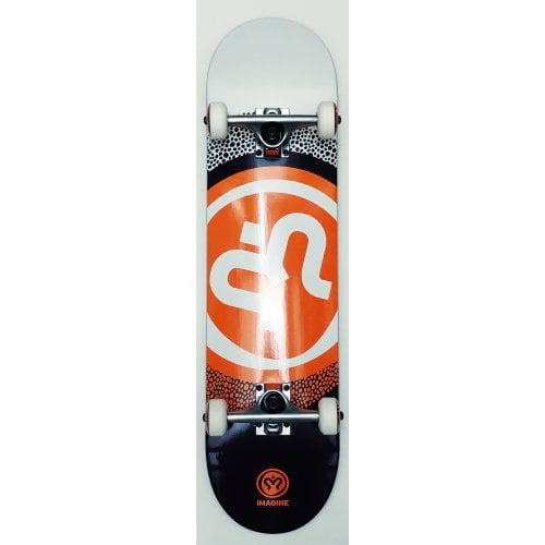Imagine Complete Skate: Round White Orange 8.0