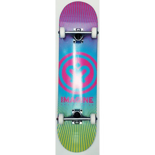 Imagine Complete Skate: Sunrise Pink Yellow 8.0