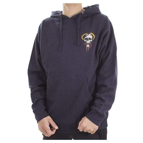 Powell Peralta Sweatshirt/Hoodie: MCGill Skull and Snake Mid Weight Navy Hood NV