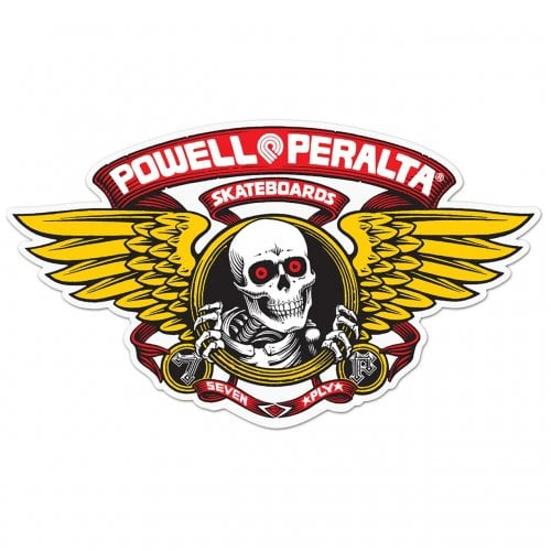 Powell Peralta Stickers: Winged Ripper Red