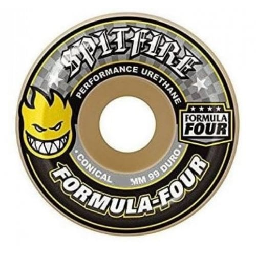 Spitfire Wheels: F4 99 Conical Yellow Print (53 mm)