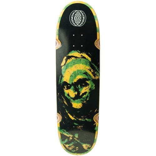 Madness Skateboarding Deck: Grim Green Swirl 9.0