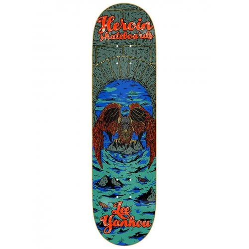 Heroin Skateboards Deck: Lee Yankou Illusion 8.25