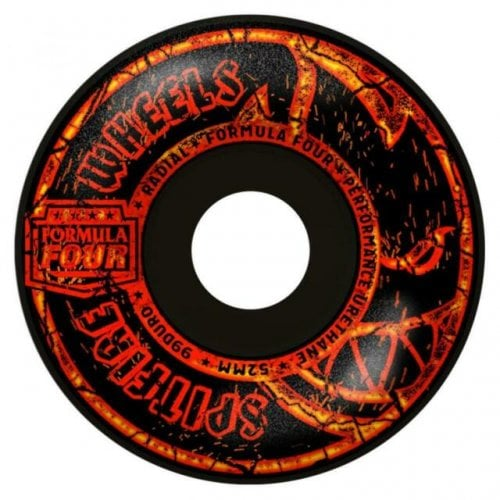 Spitfire Wheels: F4 99 Embers Radial BLK (52mm)